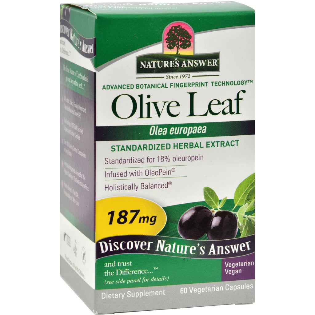 Nature's Answer Oleopein Olive Leaf Extract - 60 Vegetarian Capsules-Nature's Answer-pantryperks