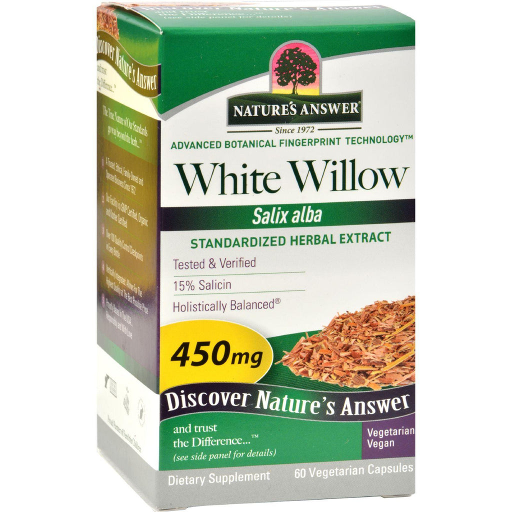 Nature's Answer White Willow Bark Standardized - 60 Vcaps-Nature's Answer-pantryperks