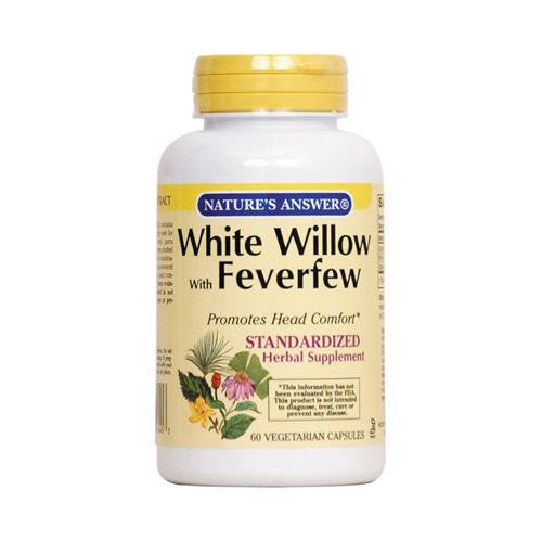 Nature's Answer White Willow With Feverfew - 60 Vcaps-Nature's Answer-pantryperks