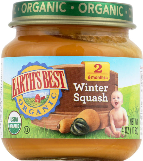 Earth's Best Organic Baby Food Stage 2 Winter Squash - 4 oz-Earth's Best-pantryperks