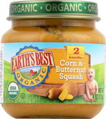 Earth's Best Organic Baby Food Stage 2 Corn and Butternut Squash - 4 oz-Earth's Best-pantryperks