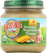Earth's Best Organic Baby Food Stage 2 Summer Vegetable - 4 oz-Earth's Best-pantryperks