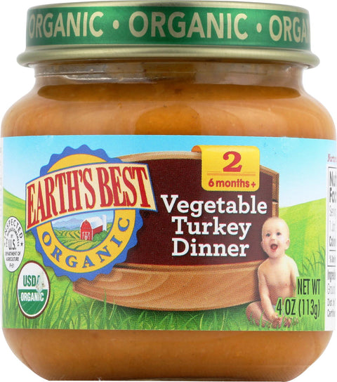 Earth's Best Organic Baby Food Stage 2 Vegetable Turkey Dinner - 4 oz-Earth's Best-pantryperks