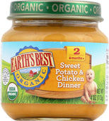 Earth's Best Organic Baby Food Stage 2 Sweet Potato & Chicken Dinner - 4 oz-Earth's Best-pantryperks