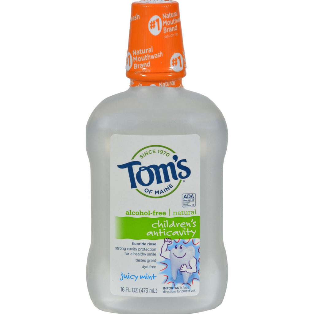 Tom's of Maine Children's Anticavity Fluoride Rinse Juicy Mint - 16 fl oz-Tom's Of Maine-pantryperks