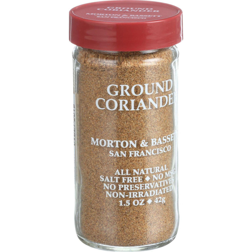 Morton And Bassett Seasoning - Coriander - Ground - 1.5 Oz - Case Of 3-Morton And Bassett-pantryperks