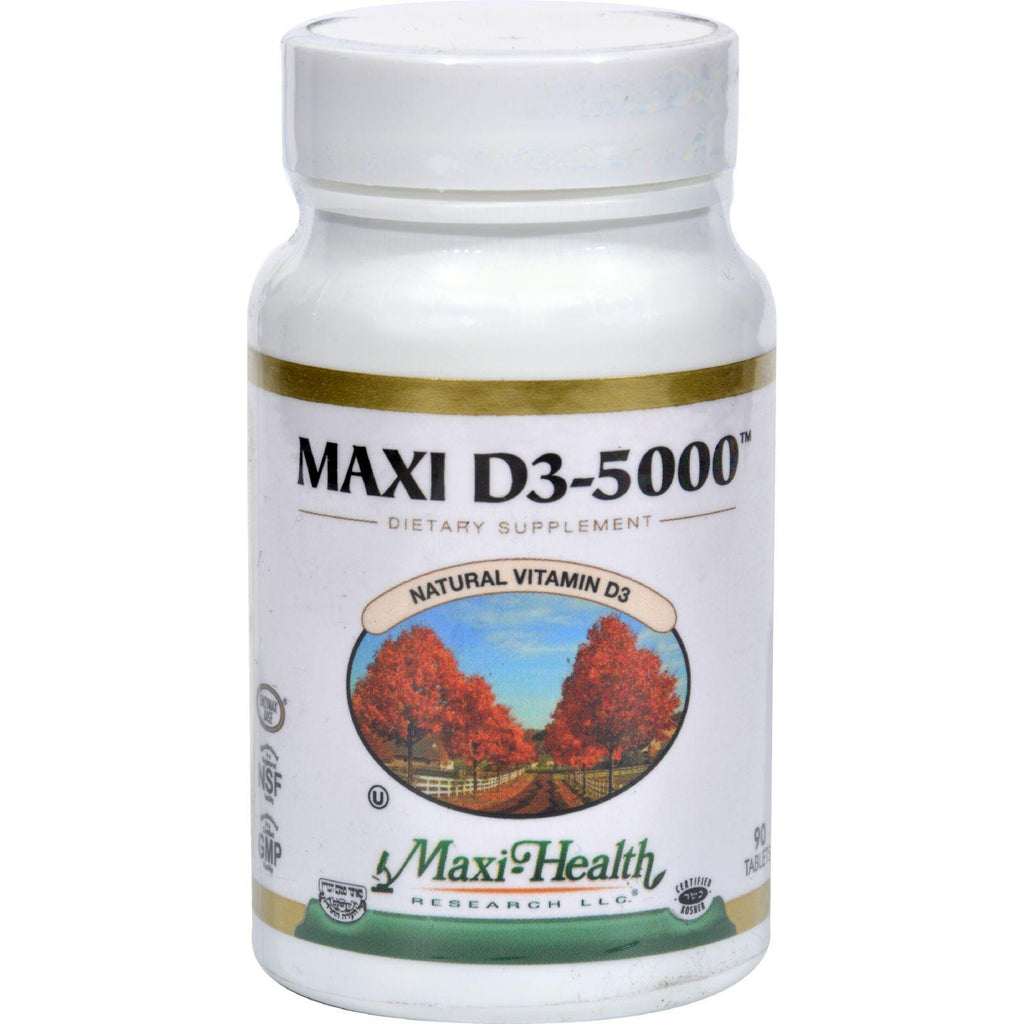 Maxi Health Kosher Vitamins Maxi D3 5000 - 5000 Iu - 90 Tablets-Maxi Health Kosher Vitamins-pantryperks
