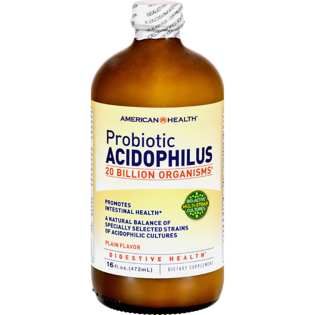 American Health Probiotic Acidophilus Plain - 20 billion - 16 fl oz-American Health-pantryperks