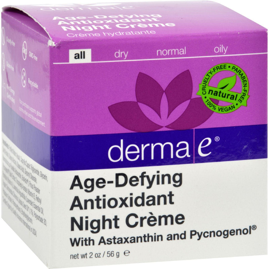 Derma E Age-defying Night Creme With Astaxanthin And Pycnogenol - 2 Oz-Derma E-pantryperks