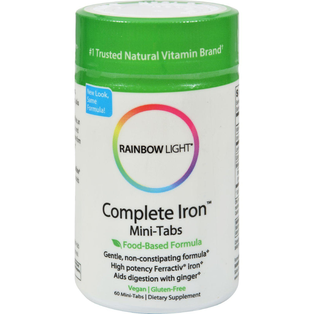 Rainbow Light Complete Iron䋢 Mini-Tabs - 60 Tablets-Rainbow Light-pantryperks