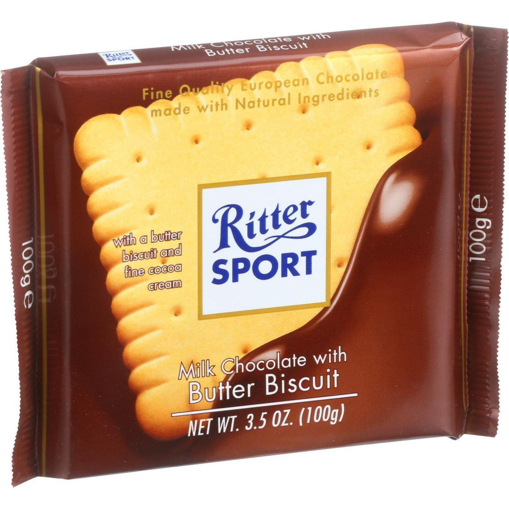 Ritter Sport Chocolate Bar - Milk Chocolate - Butter Biscuit - 3.5 Oz Bars - Case Of 11-Ritter-pantryperks