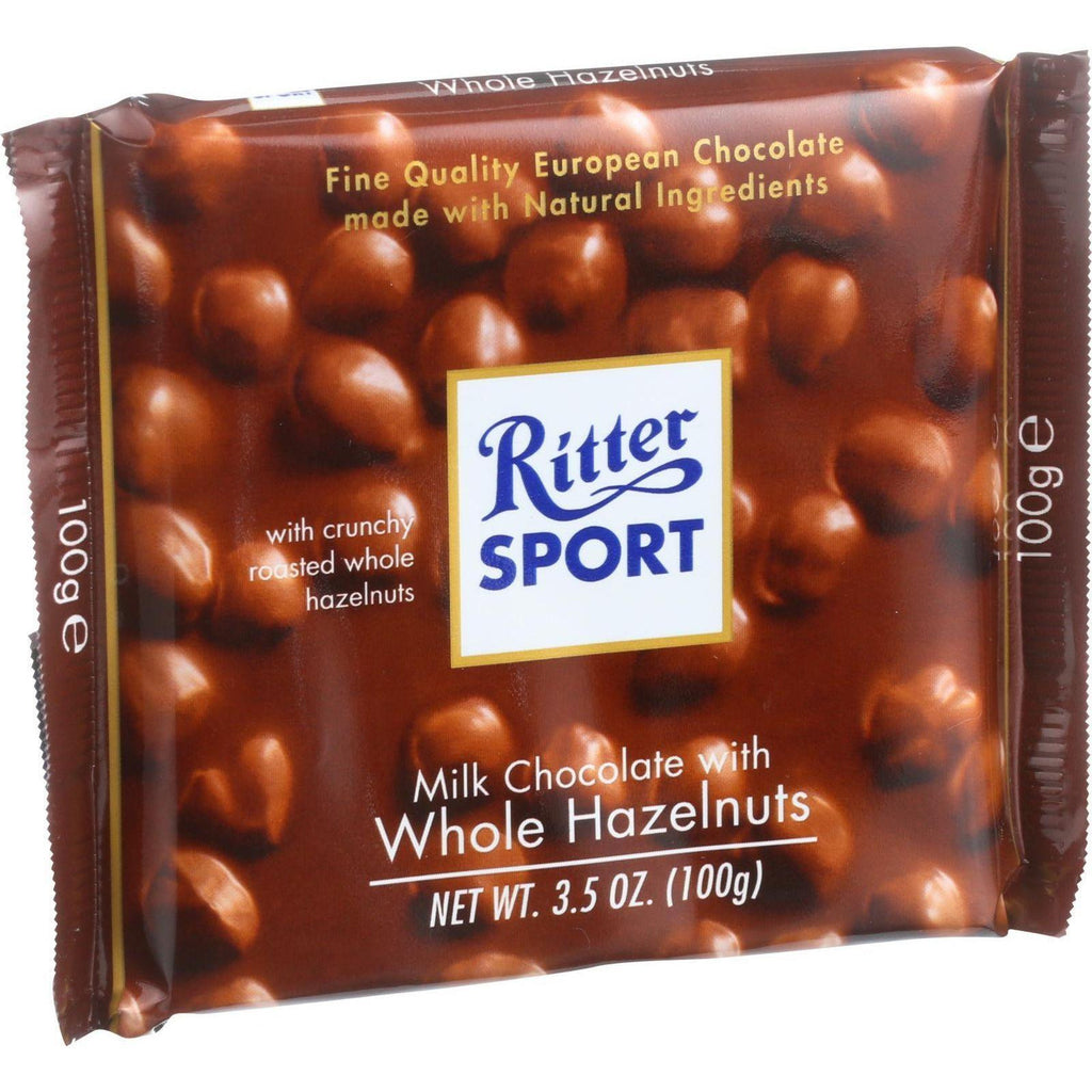 Ritter Sport Chocolate Bar - Milk Chocolate - Whole Hazelnuts - 3.5 Oz Bars - Case Of 10-Ritter-pantryperks