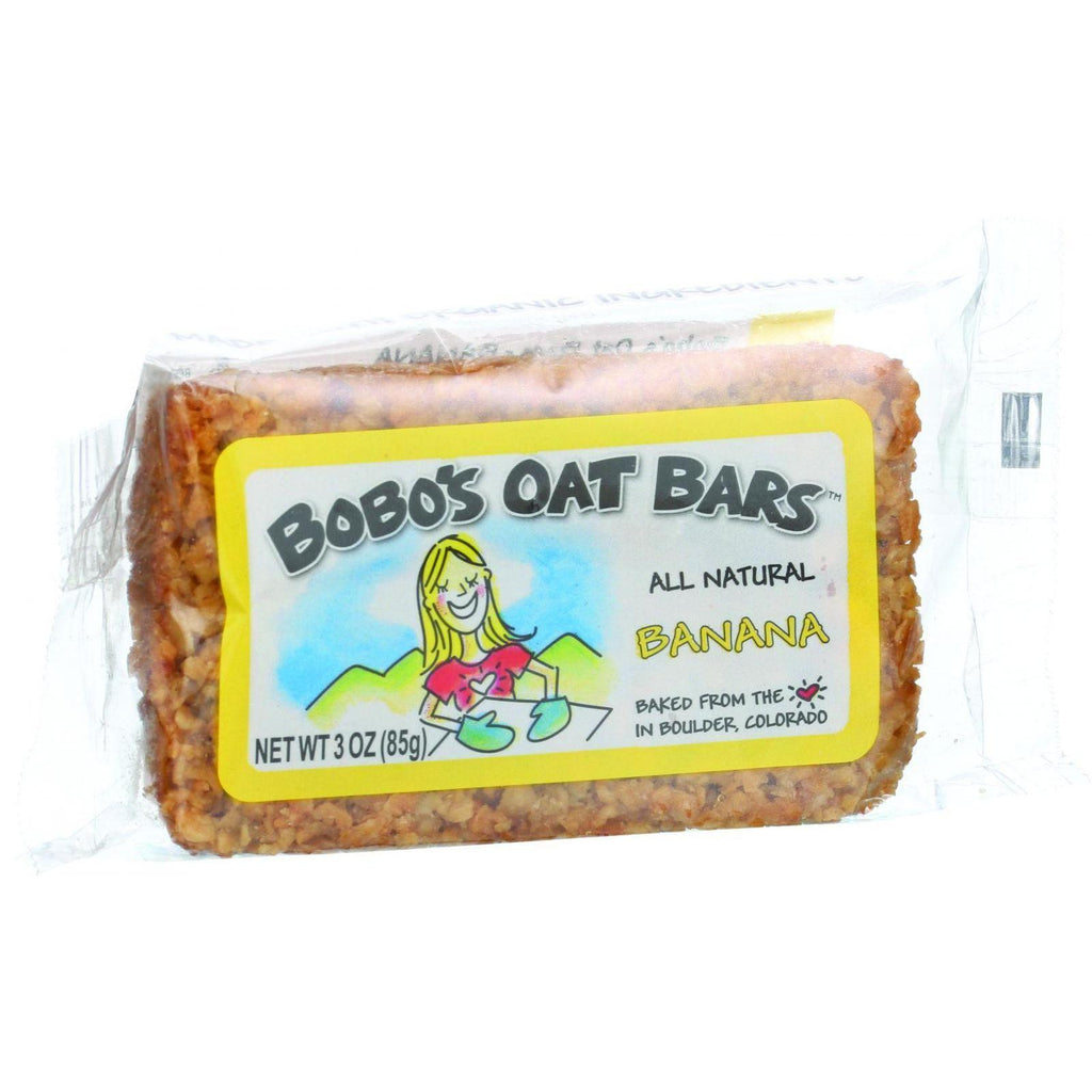 Bobo's Oat Bars - All Natural - Banana - 3 Oz Bars - Case Of 12-Bobo's Oat Bars-pantryperks