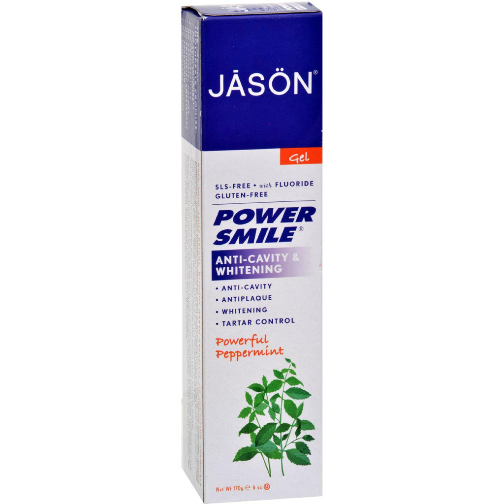 Jason Powersmile All Natural Whitening Coq10 Tooth Gel - 6 Oz-Jason Natural Products-pantryperks