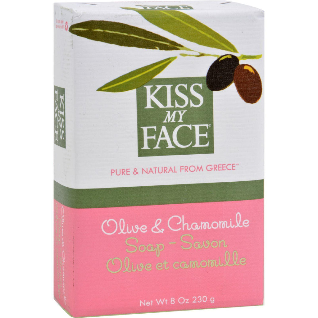 Kiss My Face Bar Soap Olive and Chamomile - 8 oz-Kiss My Face-pantryperks