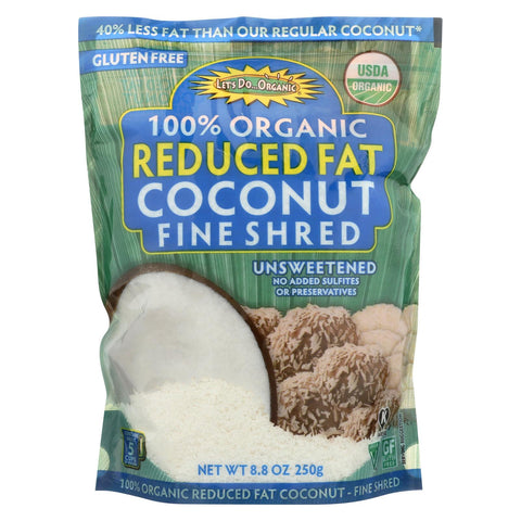 Let's Do Organic Reduced Fat Coconut Unsweetened - 8.8 oz-Let's Do Organic-pantryperks