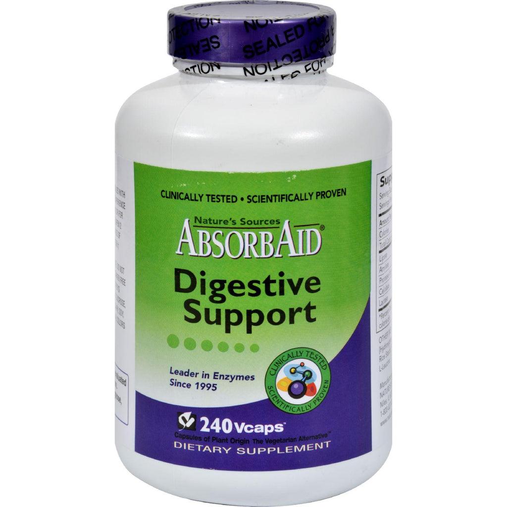 Absorbaid Digestive Support - 240 Vcaps-Absorbaid-pantryperks