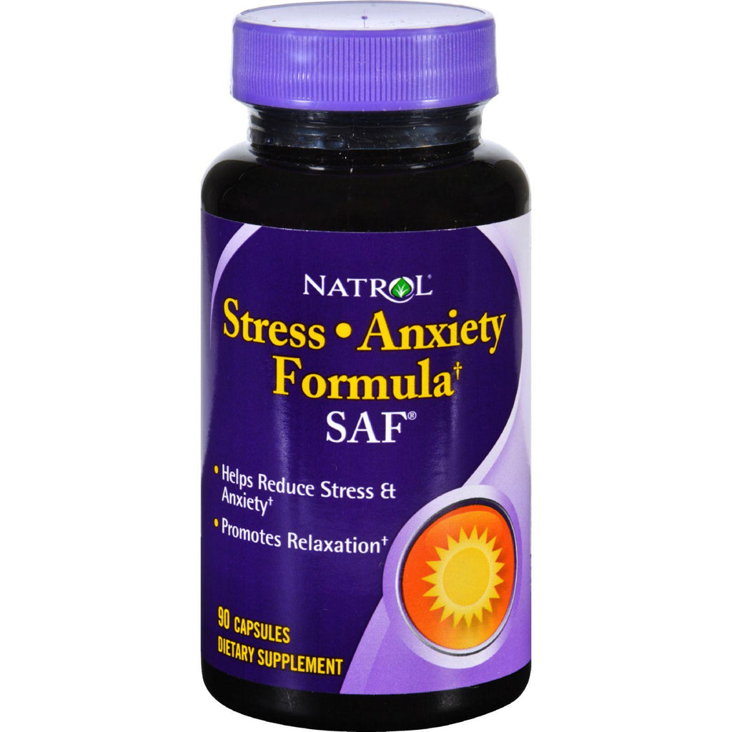 Natrol Saf Stress And Anxiety Formula - 90 Capsules-Natrol-pantryperks
