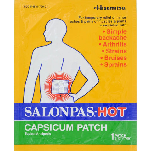 Salonpas Capsicum Patch - Hot - Pack-Salonpas-pantryperks