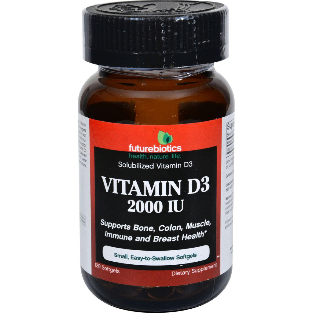 Futurebiotics Vitamin D3 - 2000 Iu - 120 Softgels-Futurebiotics-pantryperks