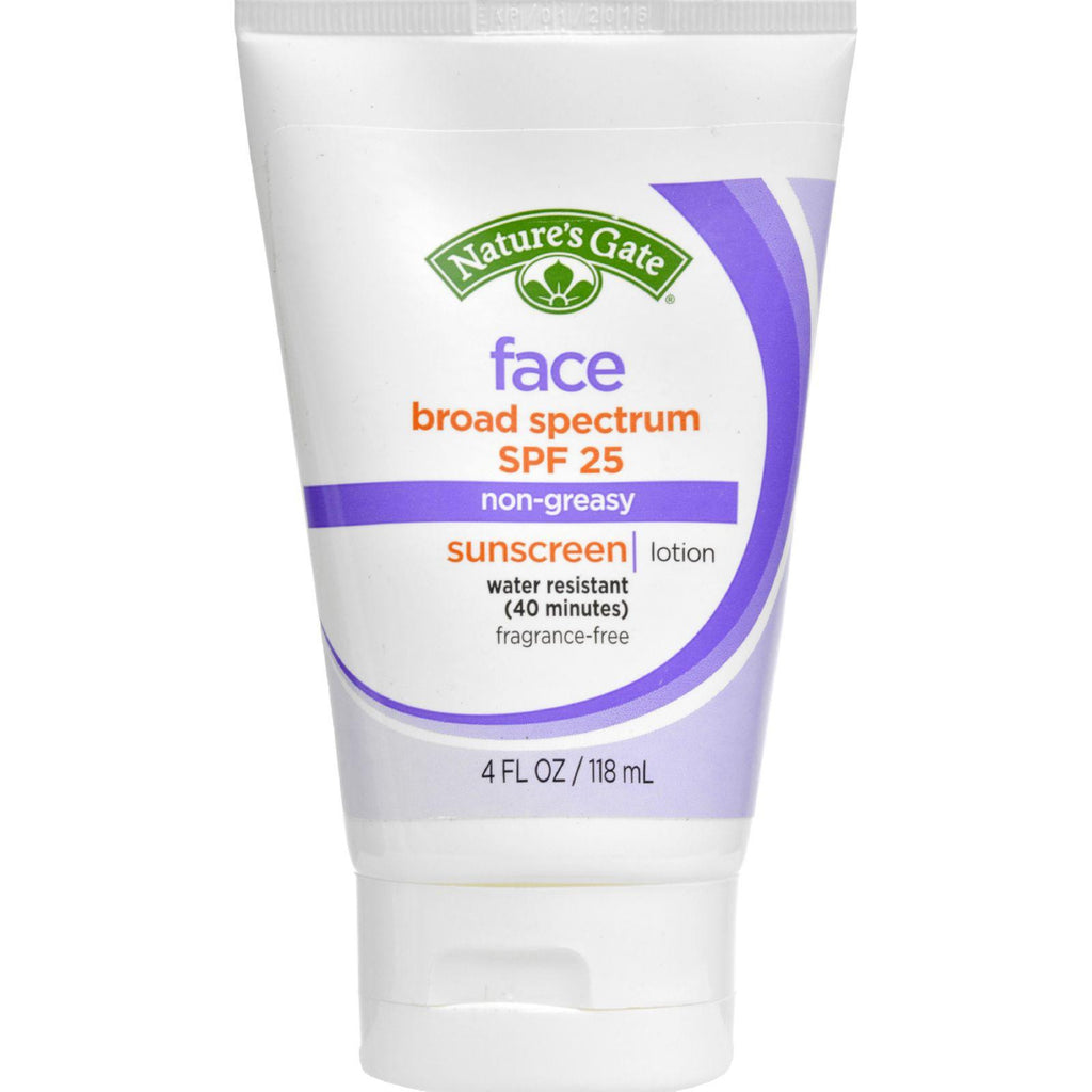 Nature's Gate Faceblock Sunscreen - Fragrance Free Broad Spectrum Spf 25 - 4 Fl Oz-Nature's Gate-pantryperks