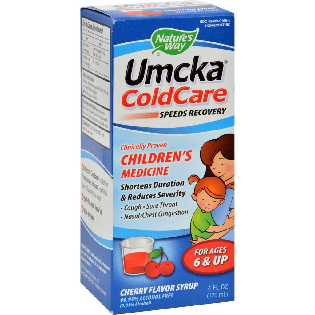 Nature's Way Umckaå¨ ColdCare Childrens Syrup Cherry - 4 fl oz-Nature's Way-pantryperks