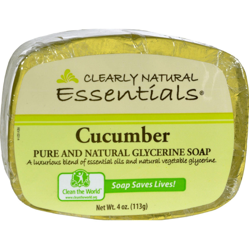 Clearly Natural Glycerine Bar Soap Cucumber - 4 Oz-Clearly Natural-pantryperks