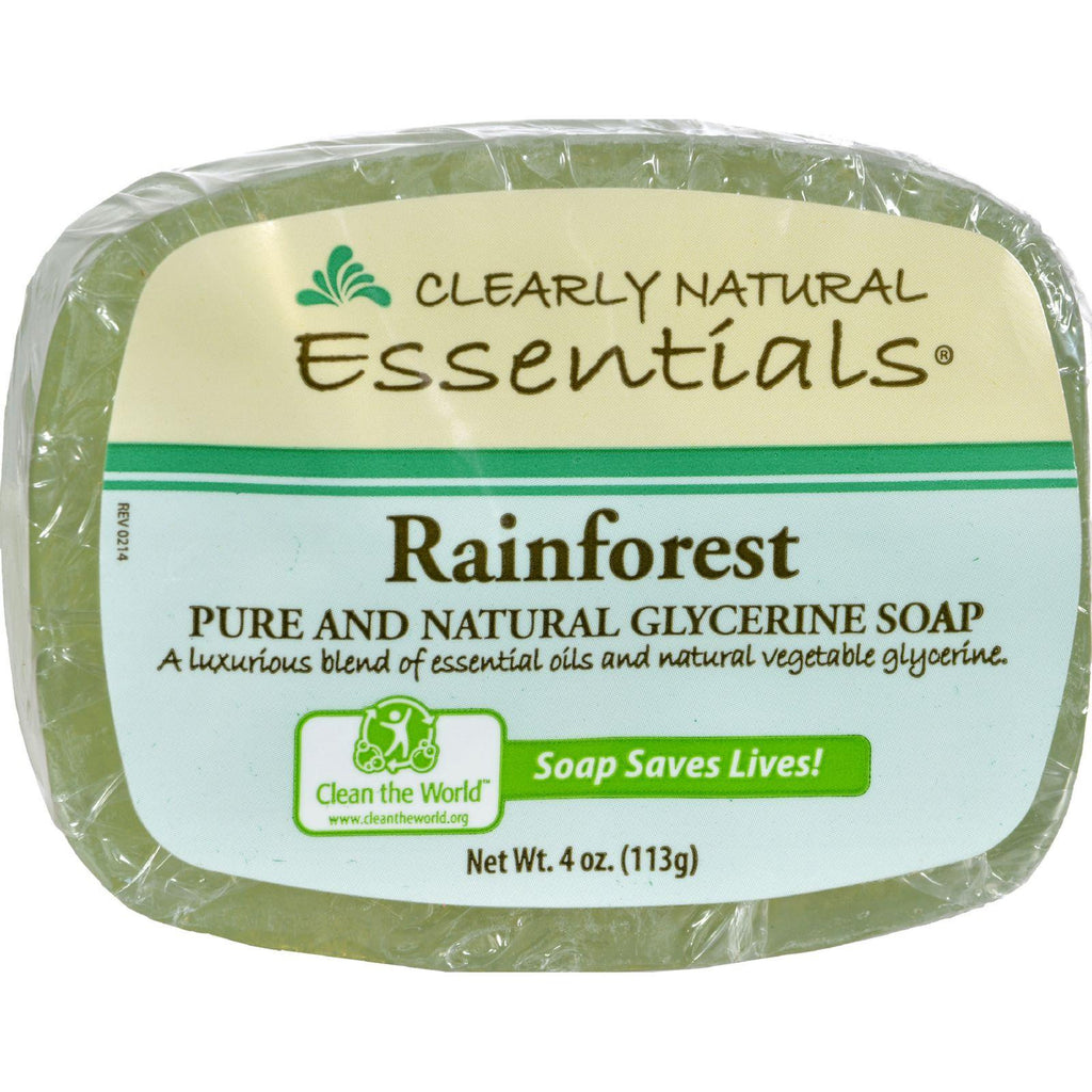 Clearly Natural Pure and Natural Glycerine Bar Soap Rainforest - 4 oz-Clearly Natural-pantryperks