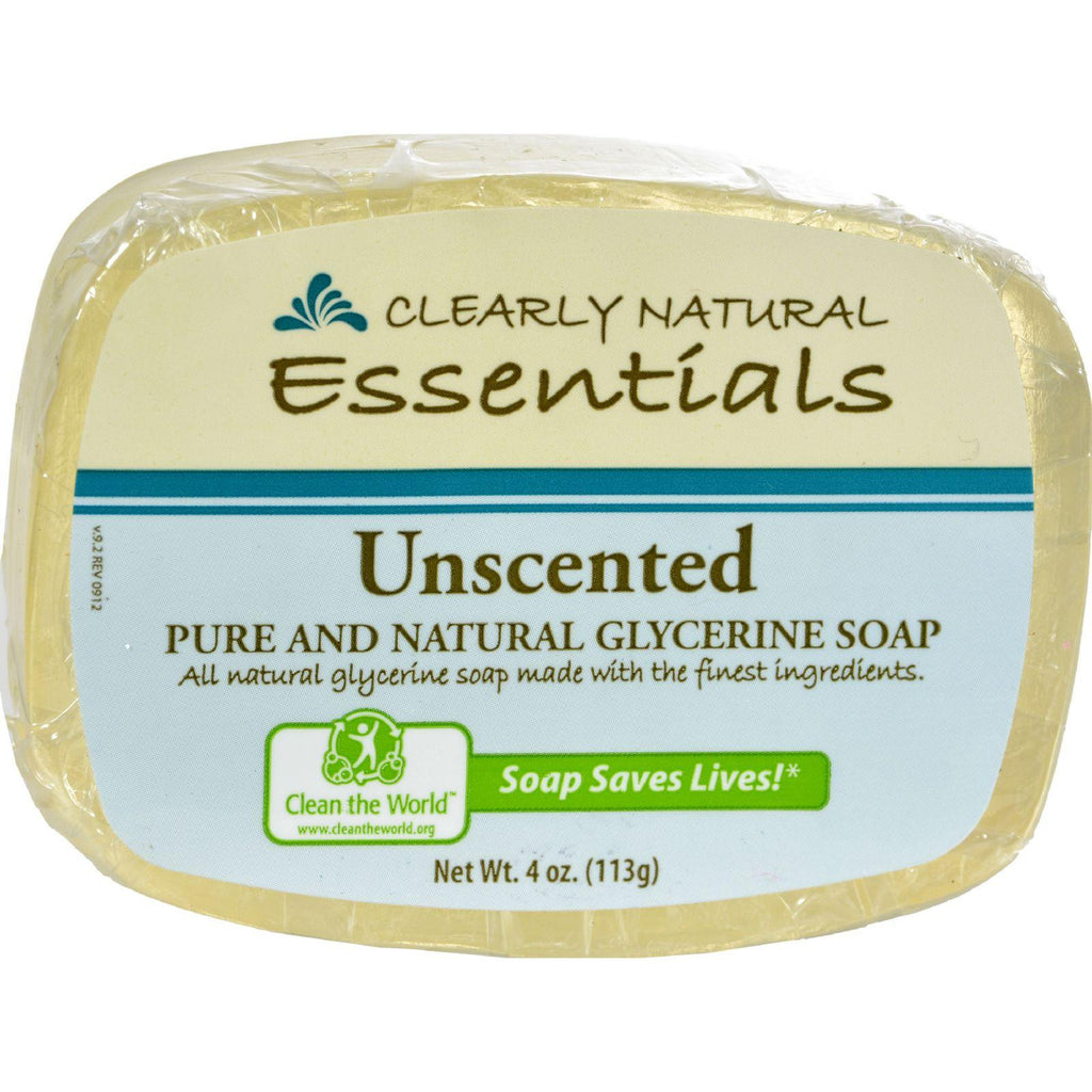 Clearly Natural Glycerine Bar Soap Unscented - 4 Oz-Clearly Natural-pantryperks