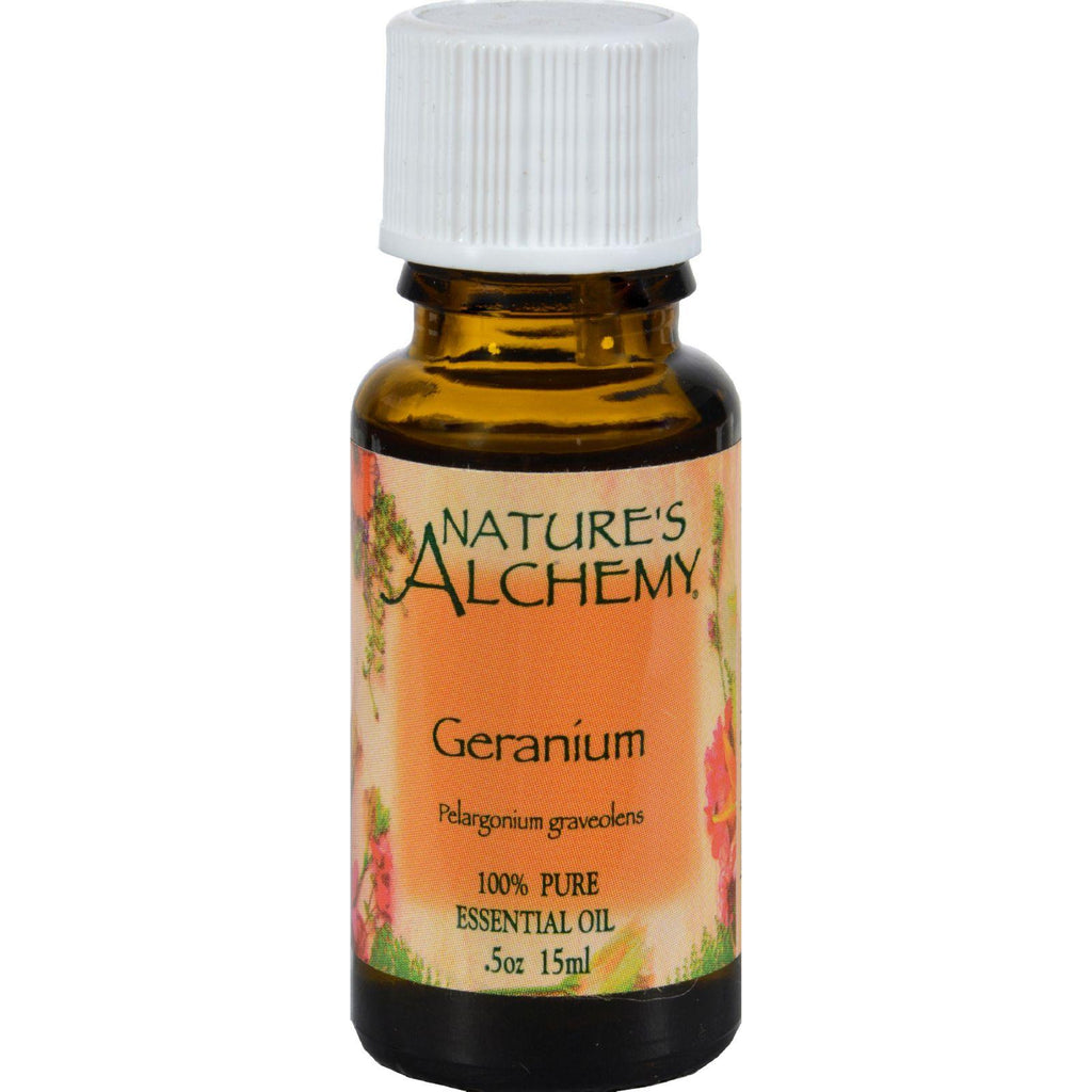 Nature's Alchemy 100% Pure Essential Oil Geranium - 0.5 Fl Oz-Nature's Alchemy-pantryperks