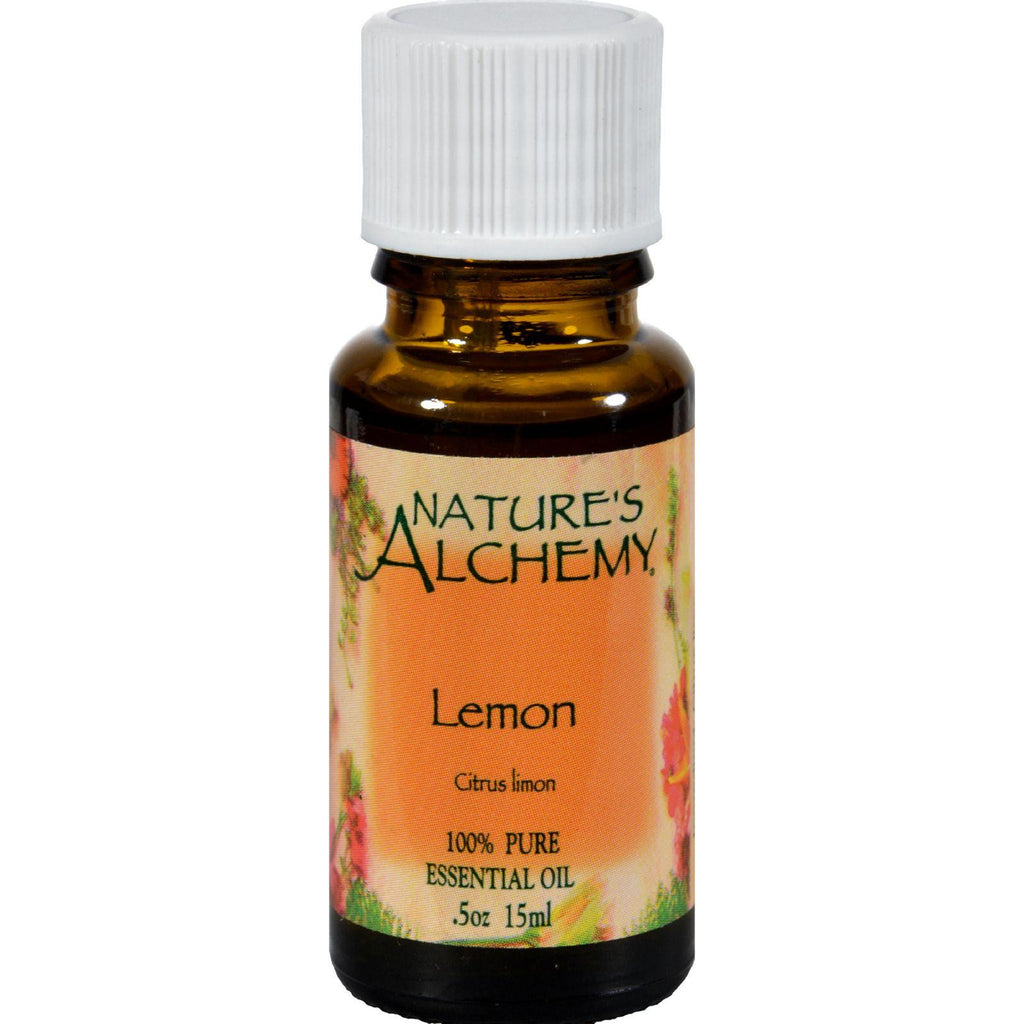 Nature's Alchemy 100% Pure Essential Oil Lemon - 0.5 Fl Oz-Nature's Alchemy-pantryperks