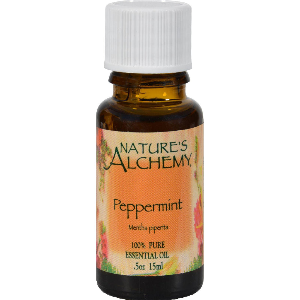 Nature's Alchemy 100% Pure Essential Oil Peppermint - 0.5 Fl Oz-Nature's Alchemy-pantryperks