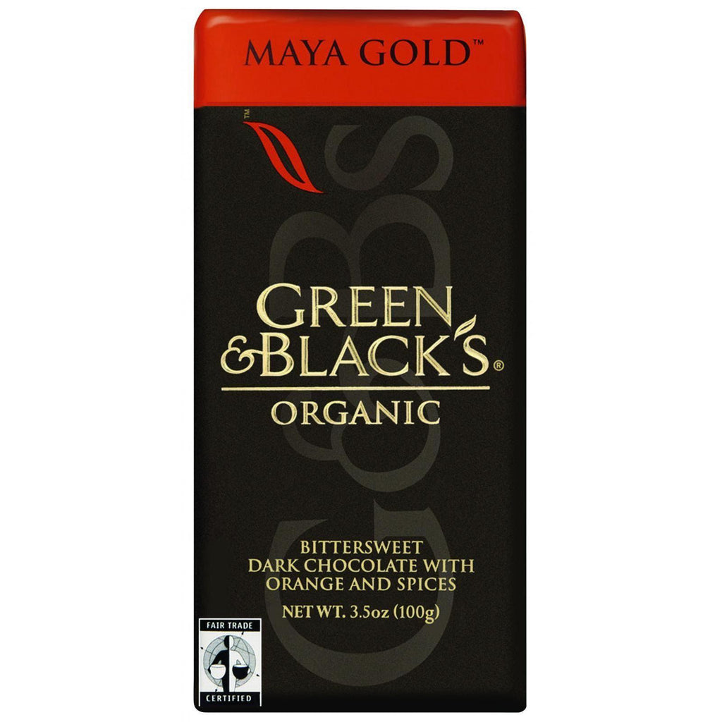 Green And Black's Organic Chocolate Bars - Dark Chocolate - 60 Percent Cacao - Maya Gold - 3.5 Oz Bars - Case Of 10-Green And Black's-pantryperks