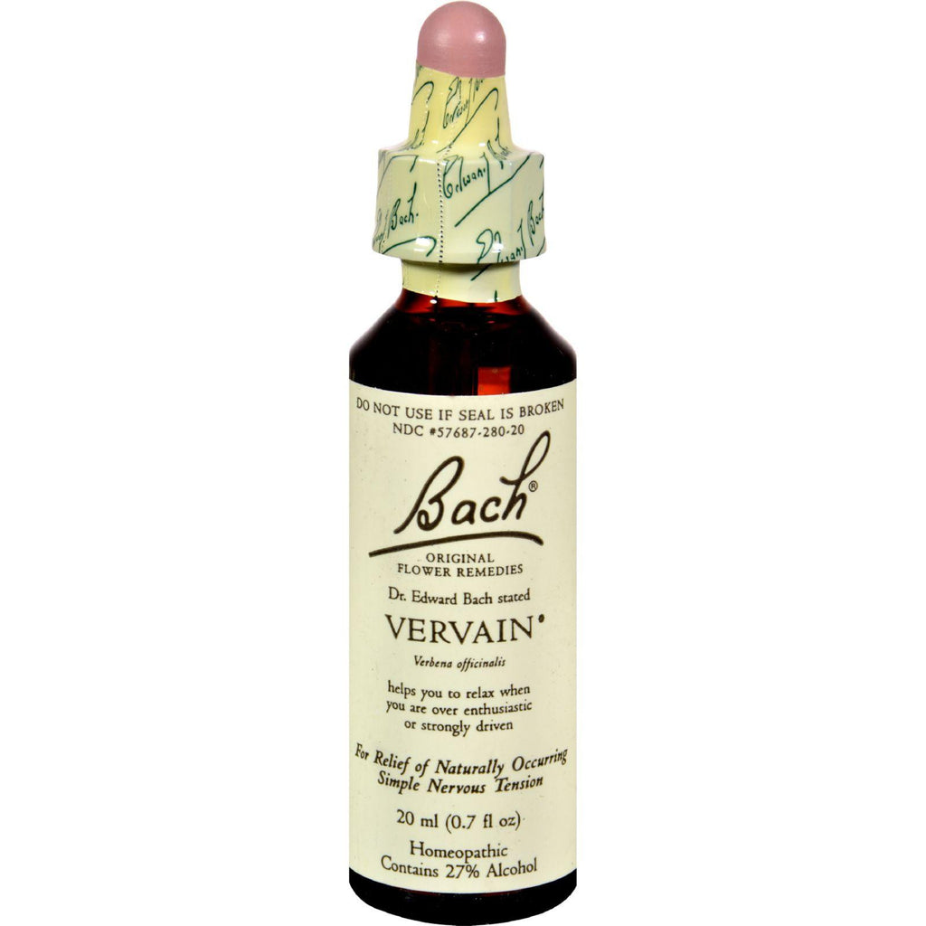 Bach Flower Remedies Original Flower Essences Vervain - 0.7 fl oz-Bach-pantryperks