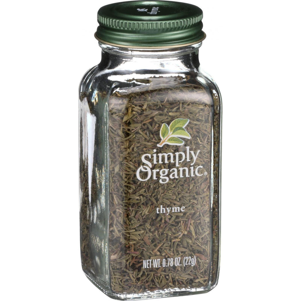 Simply Organic Thyme Leaf - Organic - Whole - Fancy Grade - .78 Oz-Simply Organic-pantryperks