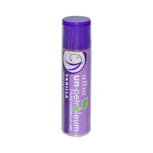 Alba Un-petroleum Lip Balm With Spf-18 Vanilla - 0.15 Oz - Case Of 24-Un-petroleum-pantryperks