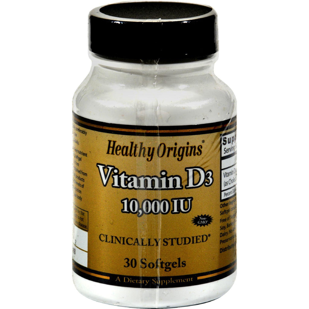 Healthy Origins Vitamin D3 - 10000 Iu - 30 Softgels-Healthy Origins-pantryperks