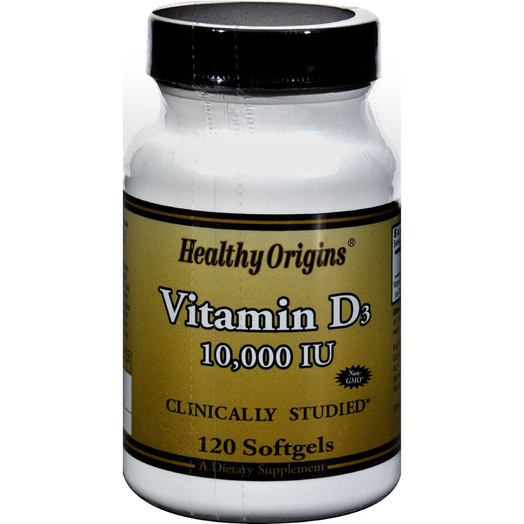 Healthy Origins Vitamin D3 - 10000 Iu - 120 Softgels-Healthy Origins-pantryperks