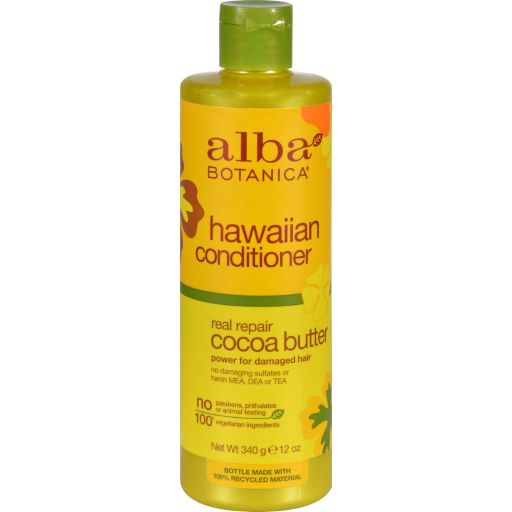 Alba Botanicaå¨ Hawaiian Hair Conditioner Cocoa Butter - 12 fl oz-Alba Botanica-pantryperks
