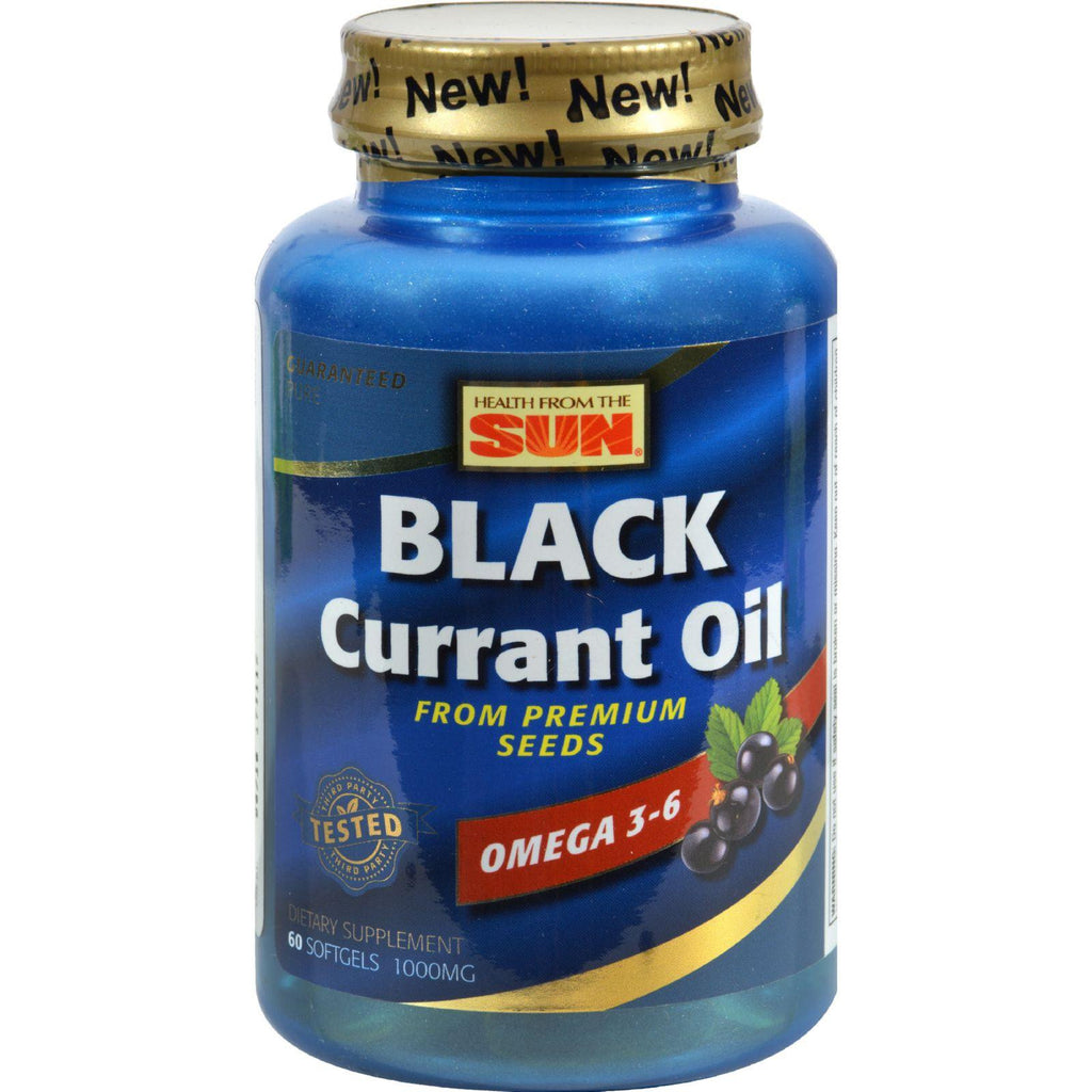 Health From The Sun Black Currant Oil - 1000 Mg - 60 Softgels-Health From The Sun-pantryperks