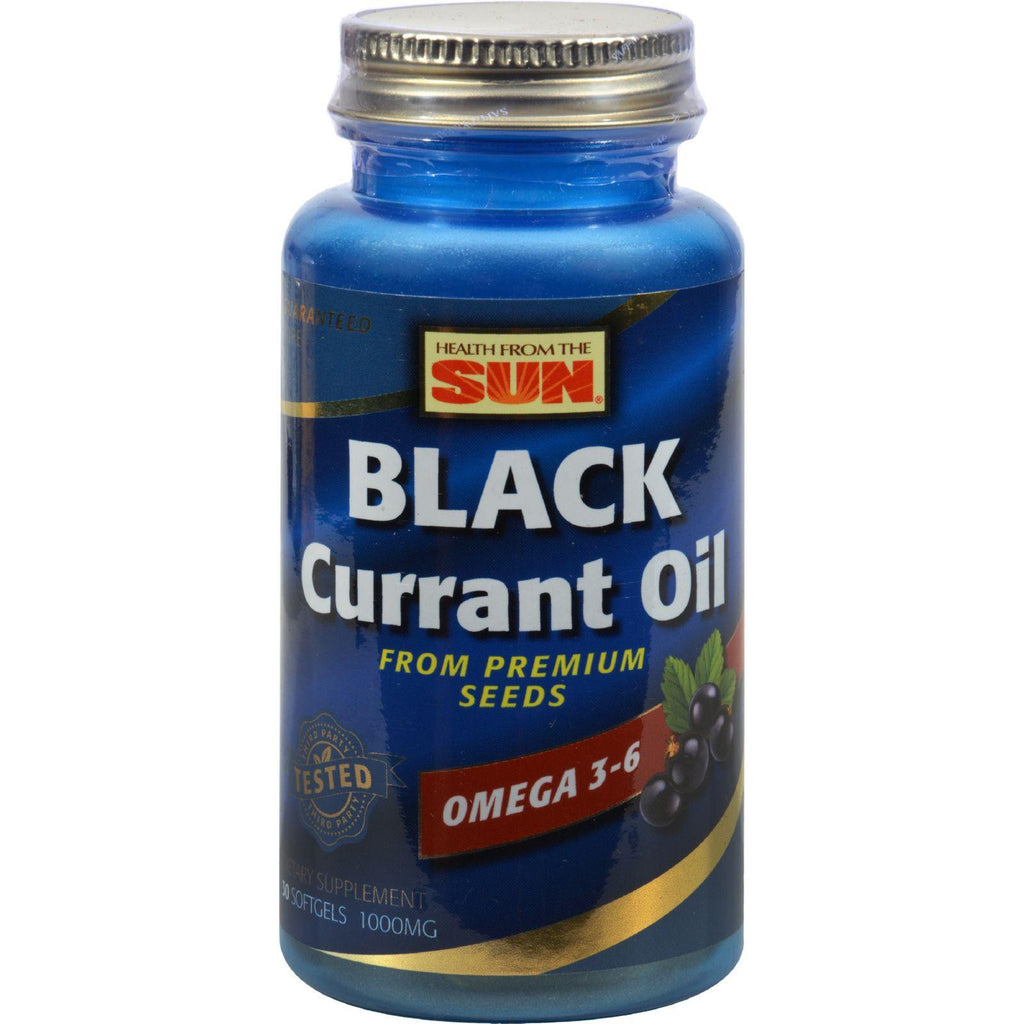 Health From The Sun Black Currant Oil - 1000 Mg - 30 Softgels-Health From The Sun-pantryperks