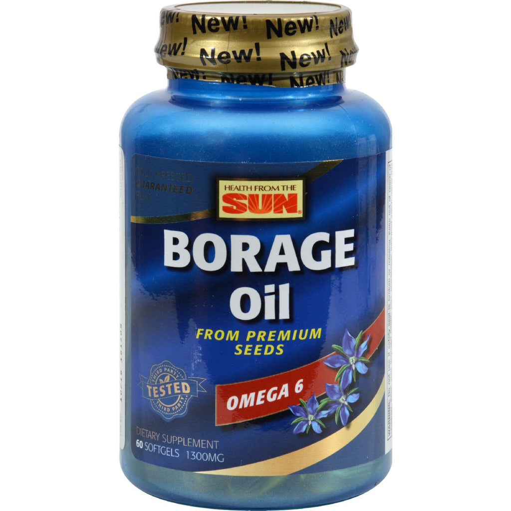 Health From The Sun Borage Oil 300 - 1300 Mg - 60 Capsules-Health From The Sun-pantryperks