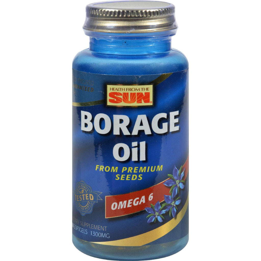 Health From The Sun Borage Oil 300 - 1300 Mg - 30 Softgels-Health From The Sun-pantryperks