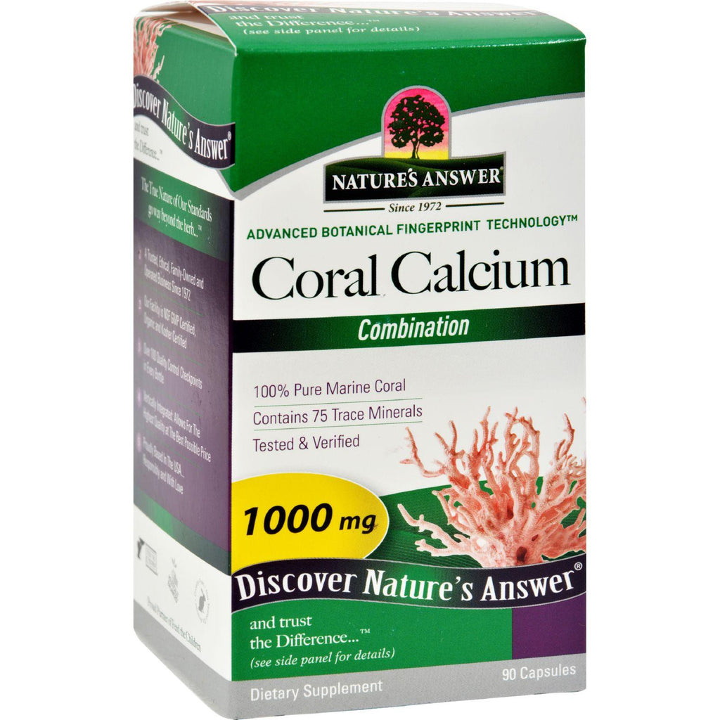 Nature's Answer Coral Calcium Choice - 90 Capsules-Nature's Answer-pantryperks