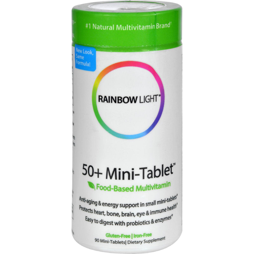 Rainbow Light 50 Plus Mini-Tab䋢 Multivitamin - 90 Tablets-Rainbow Light-pantryperks