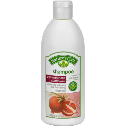 Nature's Gate Hair Defense Shampoo Pomegranate Sunflower - 18 fl oz-Nature's Gate-pantryperks
