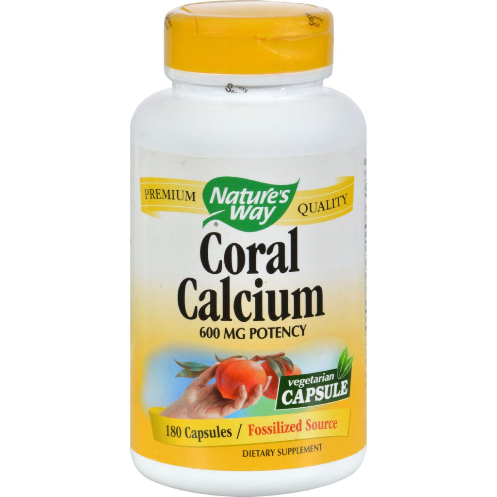 Nature's Way Coral Calcium With 73 Trace Minerals - 180 Vcaps-Nature's Way-pantryperks
