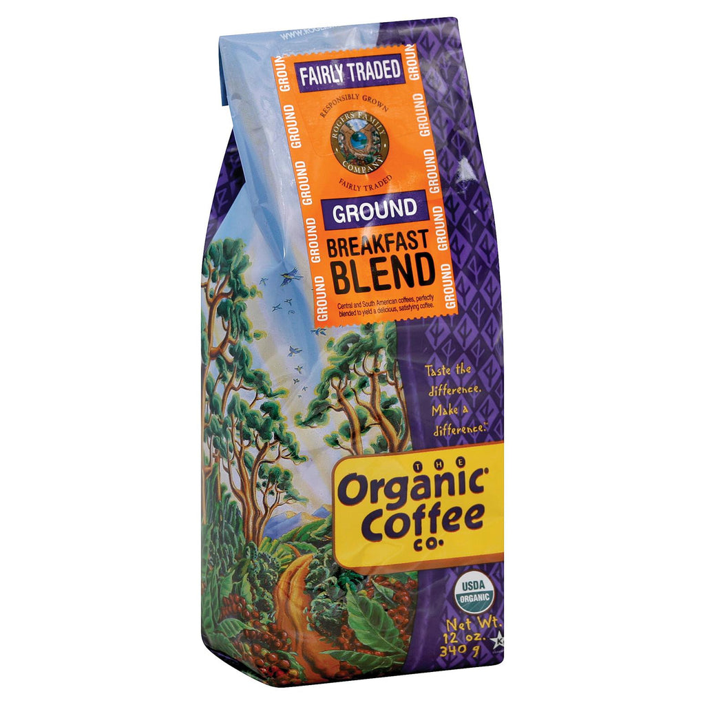 Organic Coffee Company Ground Coffee - Breakfast Blend - Case Of 6 - 12 Oz.-Organic Coffee-pantryperks