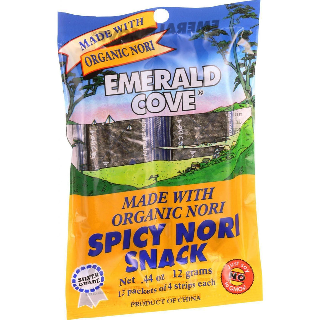 Emerald Cove Spicy Nori Snack - Organic Nori - Silver Grade - 48 Count - Case Of 6-Emerald Cove-pantryperks