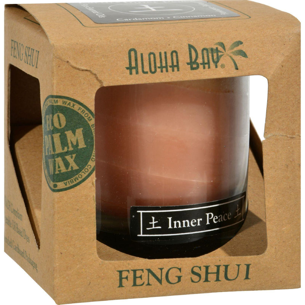 Aloha Bay Feng Shui Elements Palm Wax Candle - Earth-inner Peace - 2.5 Oz-Aloha Bay-pantryperks